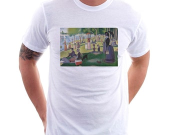 Sunday Afternoon With Beer Tee,  Unisex Tee, Beer Tee, Beer T-Shirt, Beer Lovers Tee, Beer Thinkers, Beer Art, Sunday Afternoon in the Park