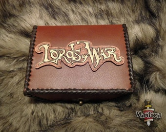 Cards leather box