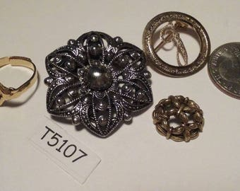Vintage, Old stock, Jewelry lot, repair, Repurpose, Salvage, lot, finding lot,  T5107