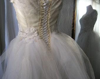 Steampunk Wedding Dress, Bohemian Bride, Lace Wedding Dress, Unique Wedding, Bridal Gown, Fantasy Wedding, One of a Kind, Original Design