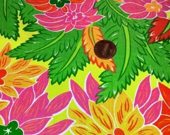 "Hawaiian Floral Remnant ,  33"" Long  x 22"" wide"