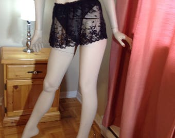 Vintage black lace panties (5)