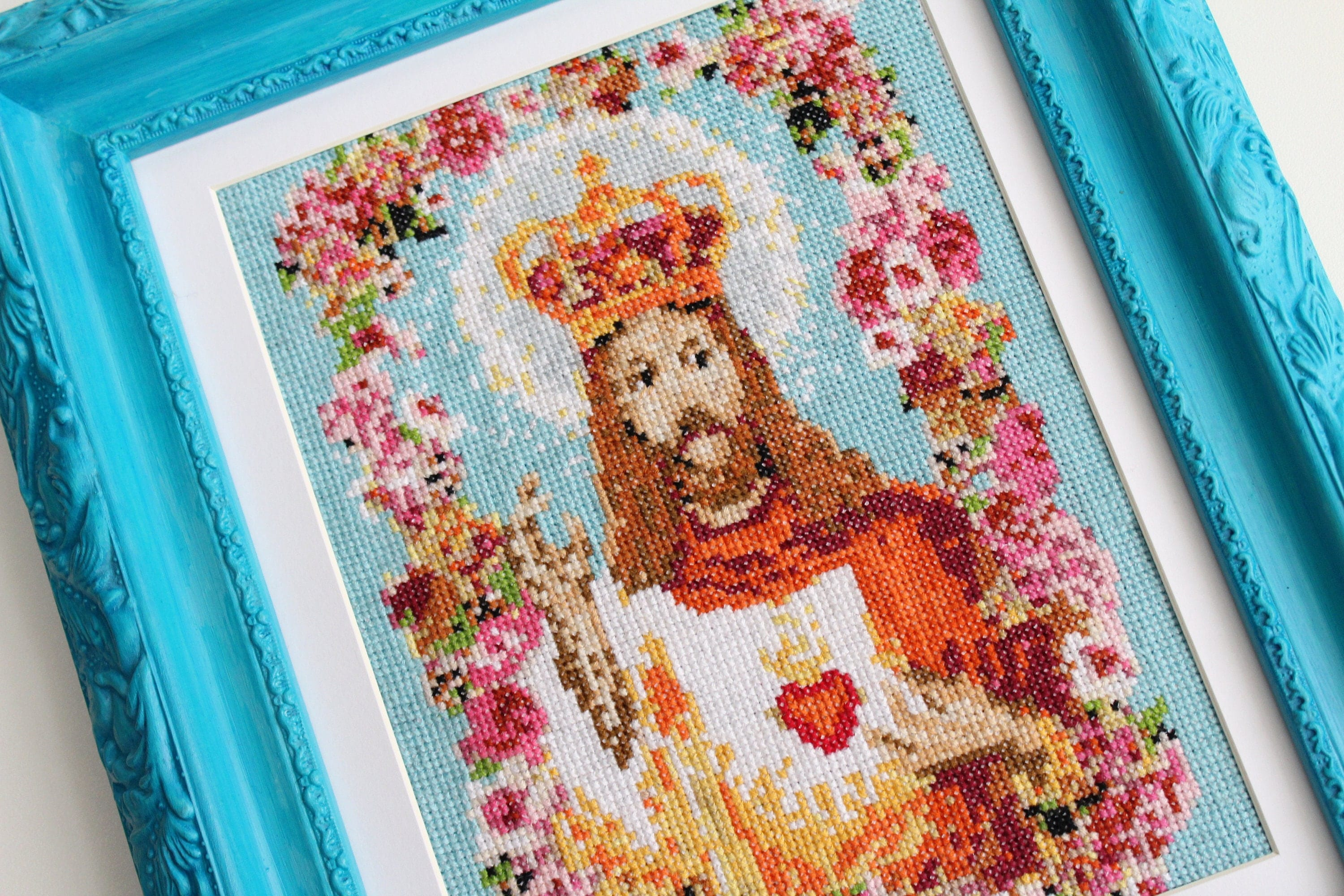 Jesus cross stitch pattern religious sewing pattern kitsch cross this is a digital file jeuxipadfo Images