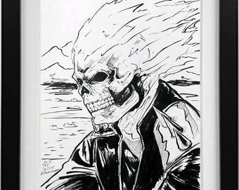 Ghost Rider Ink drawing