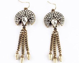 Trendy, Chain tassel Earrings