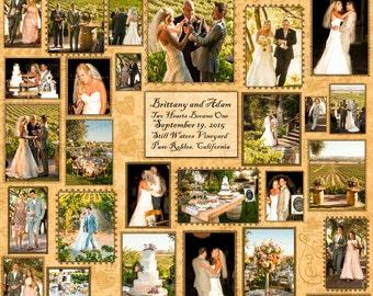 Custom Wedding Quilt, Custom Photo Quilt, Memory Quilt, Photo Quilt