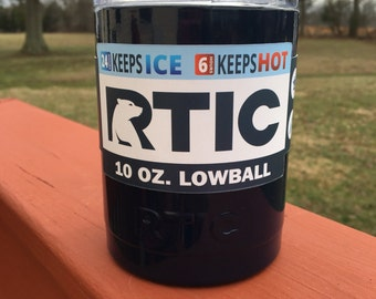 RTIC 10oz Powder Coated Lowball with Lid -Navy Blue or Pick your Color!