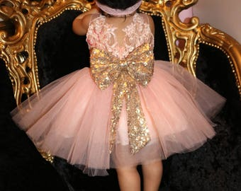 Baby sequin bow dress