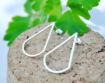 Silver Art Deco Stud Earrings/Drop Earrings