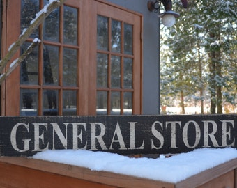 General Store Vintage Wooden Sign Barnboard Sign Country Chic  Farmhouse Decor Rustic Home Decor Wall Art