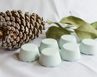 Shower Steamer // Breathe Easy // 2 or 4 pack // Eucalyptus & Cedarwood // Light Blue // Aromatherapy and essential oils