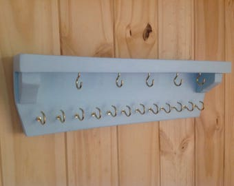 Wall Rack,jewelry rack,key holder,leash holder,jewelry holder,,jewelry organizer,necklace organizer,necklace rack,Necklace holder