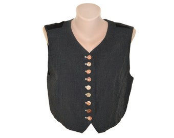 Vintage Mondi Business women vest black striped