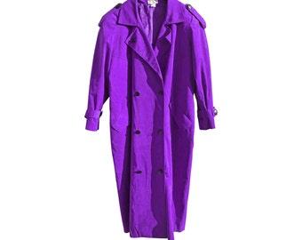 Vintage Facile ® violet purple long coat jacket woman Made in USA