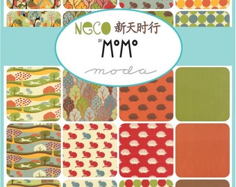 Neco by MoMo for Moda, Neco Charm Pack, Moda Charm Pack, 42 pieces