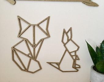 Woodland, geometric, Fox, rabbit, sweet dreams, arrow.