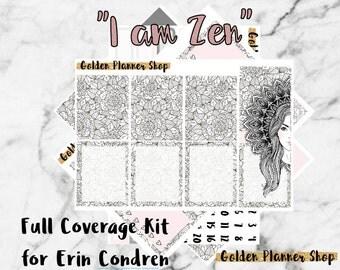 FULL COVERAGE I am Zen Weekly Kit for Erin Condren Life Planner