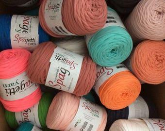 FREE SHIPPING!!!6 ITEMS t shirt yarn, fabric yarn, spaghetti yarn