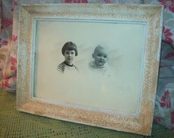 lovely small frame old shabby, children, photo, baby