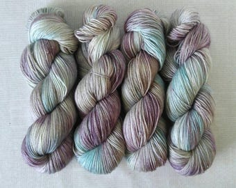 Hand Dyed Yarn - GEODE - Sparkle Superwash Merino/Nylon Fingering Weight Yarn