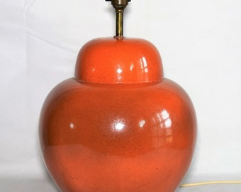 Italian raymor mid century ceramic Table lamp large