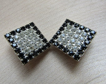 Vintage Square diamante Earrings