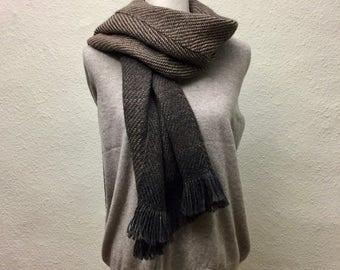 Scarf hand-woven Alpaca unique ladies 100% wool winter handmade XXL