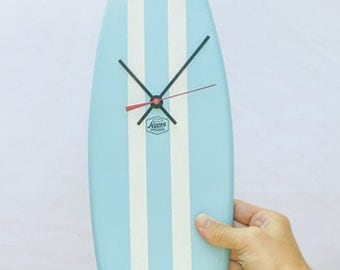 Noosa Surfboard Clock,Hand Crafted  50cm long!