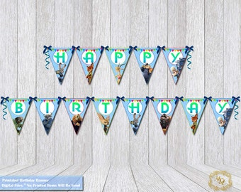 Zootopia Birthday Banner.Zootopia Party Banner.Zootopia Party Theme.Zootopia Party Decor.DIY.Printable Bunting.Zootopia.Party Banners.