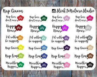 Nap Queen Stickers