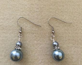 Blue Ice Pierced Dangle Earrings