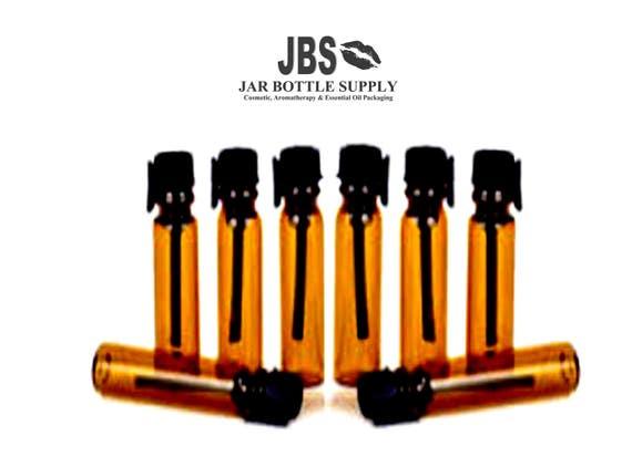 48 AMBER 1ml Glass PERFUME Sample Vials Mini Bottles for Perfume ...