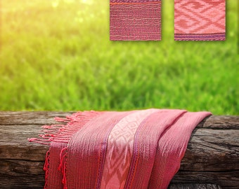 Cotton and Silk Shawl Natural-dyed Color