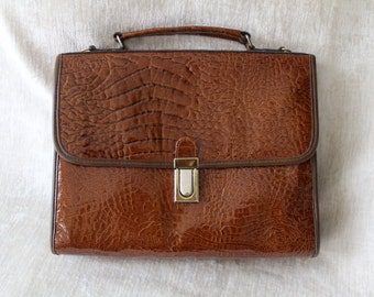 Vintage bag, imitation leather, Croc