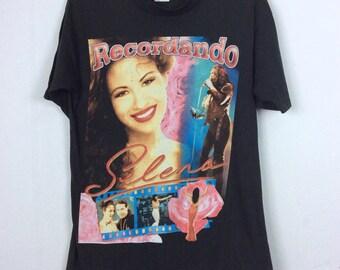 RARE!! Vintage 90s Selena Quintanilla Shirt Singer / Tejano / Mexican Cumbia/ R&B / Pop Band Tees Music Lover