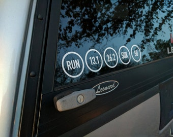 Ultra Marathon Distance Vinyl Sticker Pack
