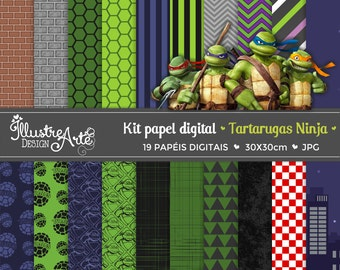 Digital paper Ninja Turtles