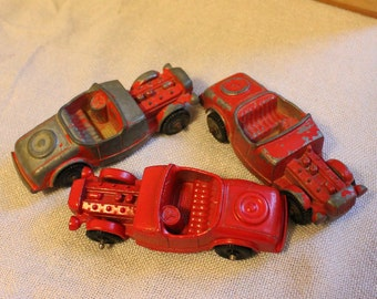 Vintage Tootsietoy Model B Hot Rod Roadster, Set of 3 Tootsietoy Die Cast Model B Roadsters, Vintage Tootsietoy Die Cast