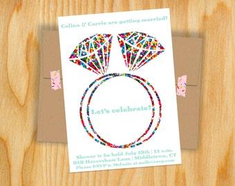 Sprinkle Ring Bridal Shower Invite (Two Rings)