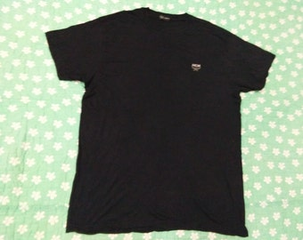 MCM LEGERE embroidered t shirt black colour size L
