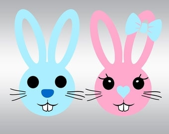 Easter bunny svg, Easter svg, Bunny svg, Bunny ears svg, Easter, SVG Files, Cricut, Cameo, Cut file, Files, Clipart, Svg, DXF, Png, Pdf, Eps