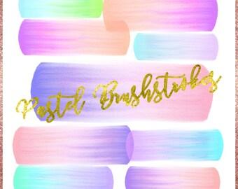 Pastel Brush Strokes, Watercolor Pastel Brush Strokes, Brush Strokes Clipart, Watercolor Brushstrokes, Ombre Brushstrokes, Pastel Clipart