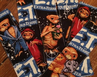 Handmade E.T. fabric bookmark