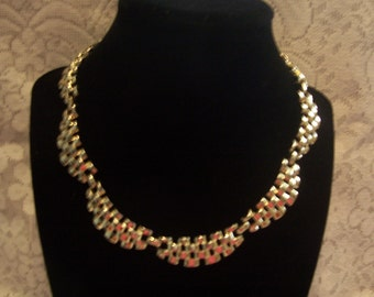 Coro Gold Tone Link Necklace
