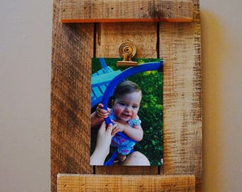 Reclaimed Wood Picture Holder