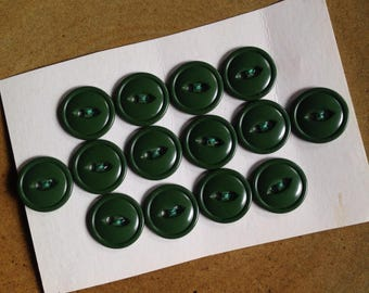 14 vintage green buttons