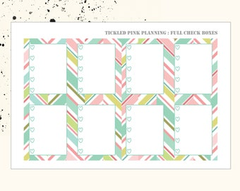 BLOOM AND GROW | Full Check List Boxes | Planner Stickers | Erin Condren Vertical