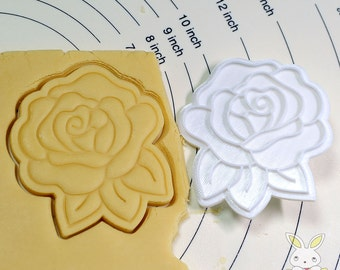 Rose Cookie Cutter and Stamp set