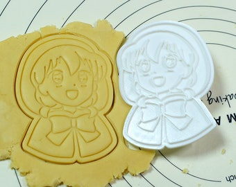 Redhood ChaCha Cookie Cutter and Stamp