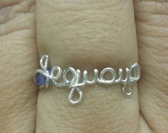 Name Ring - Silver Plated Copper